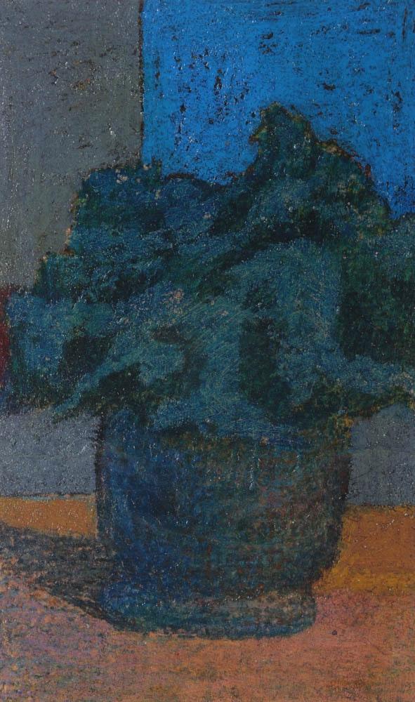 "Edgar Hatten Oil Painting on Paper ""Flowers"""