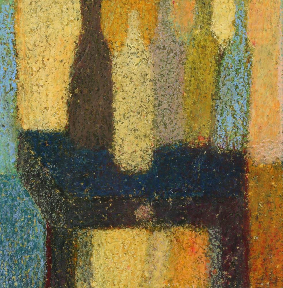 """Edgar Hatten Oil Painting on Paper """"Five Bottles"""""""