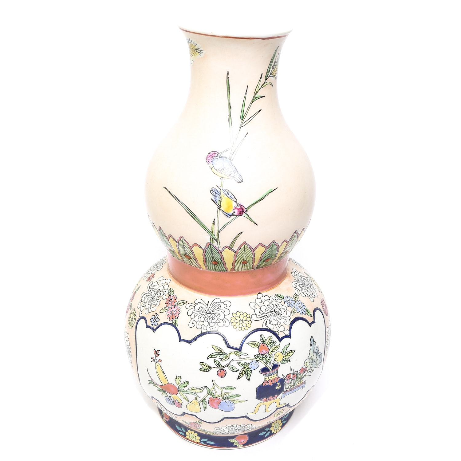 Chinese Double-Gourd Ceramic Vase