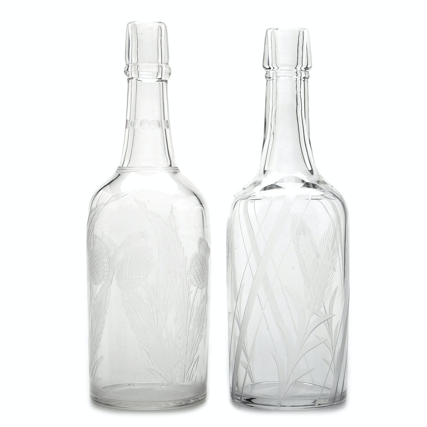 Etched Glass Decantures