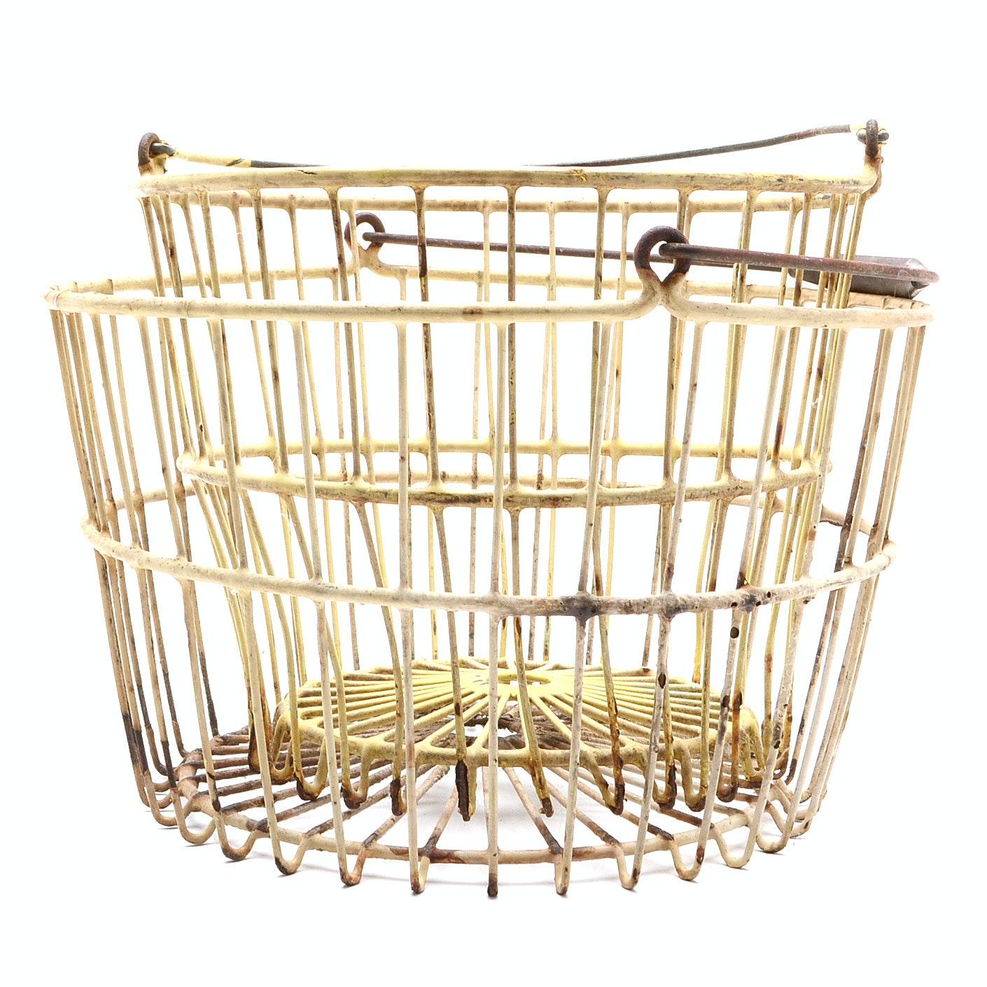 Vintage Wire Egg Baskets
