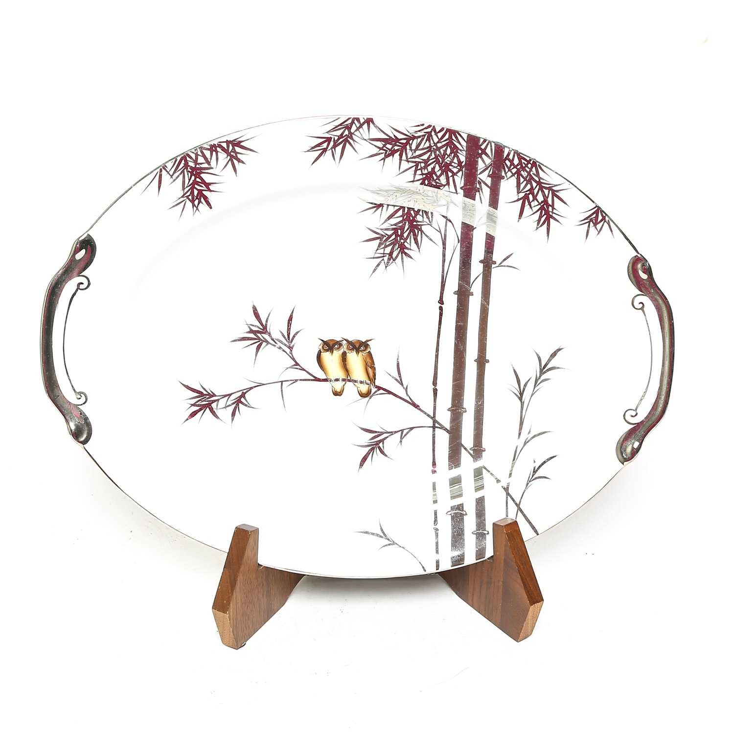 Hand Painted Japanese Owl Plate