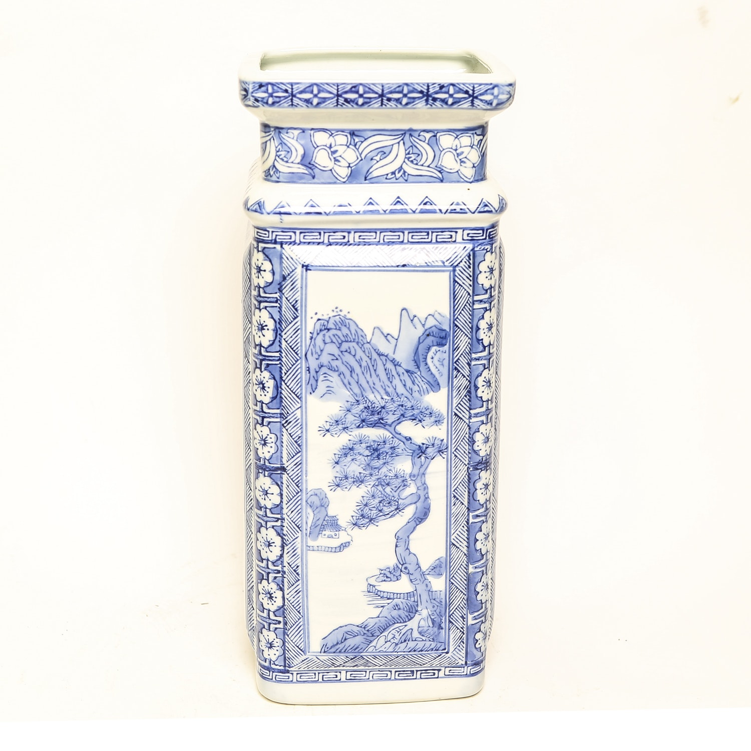 Blue and White Porcelain Chinese Vase