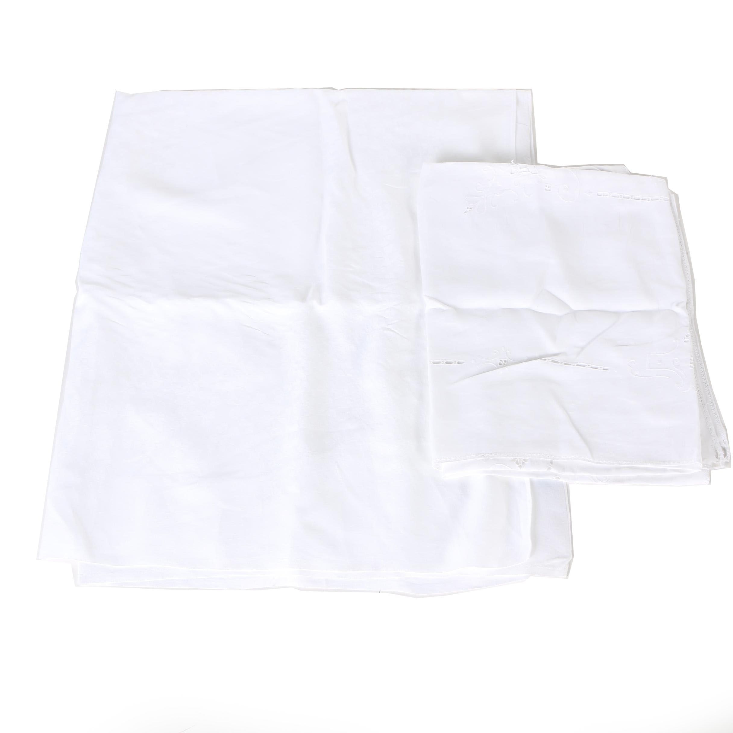 White Linen Tablecloths and Kerchiefs