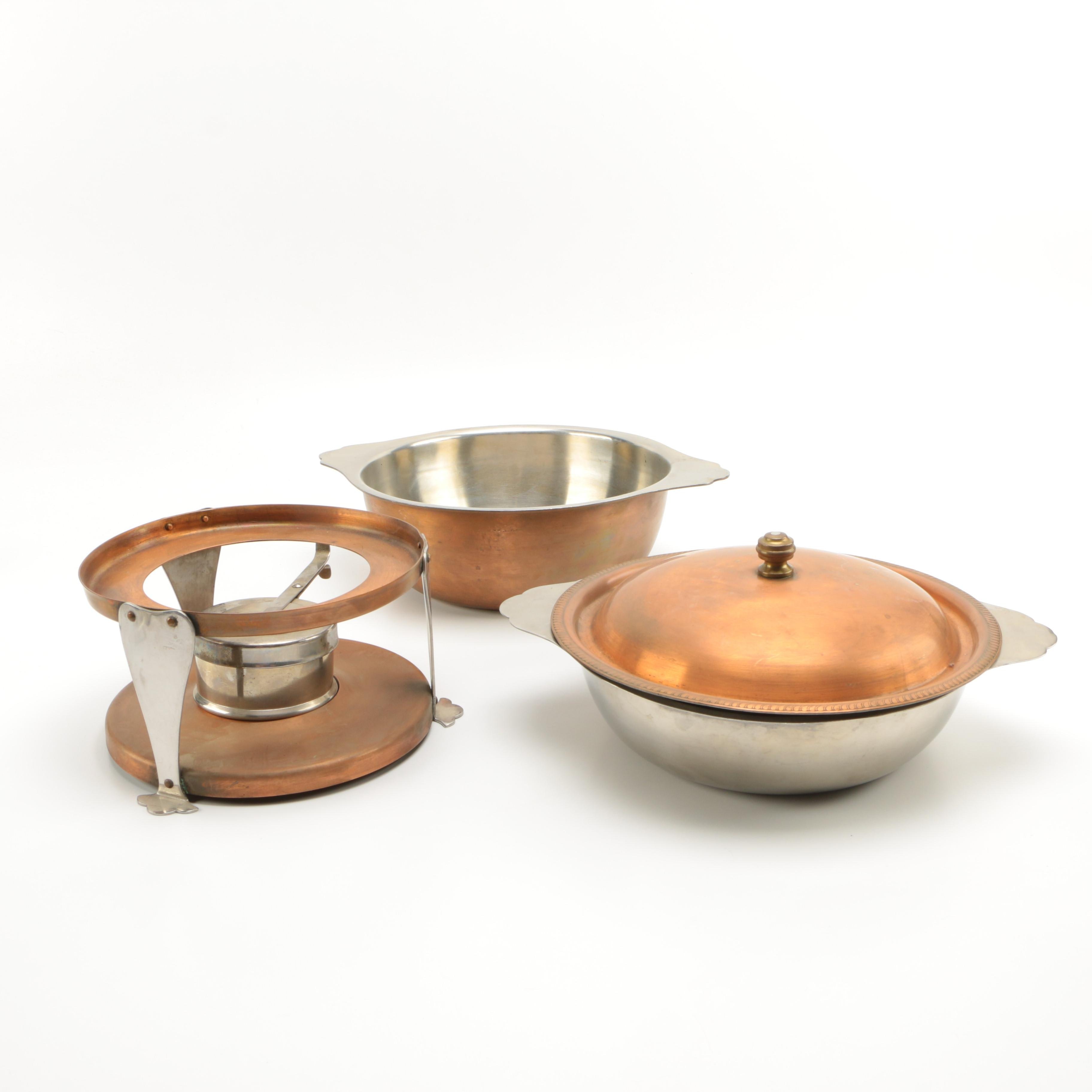 French Copper Chafing Dish