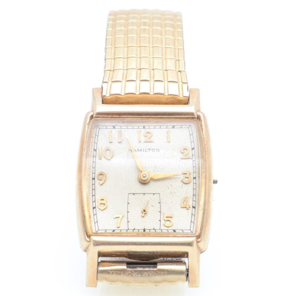 Hamilton 10K Yellow Gold Case Wristwatch
