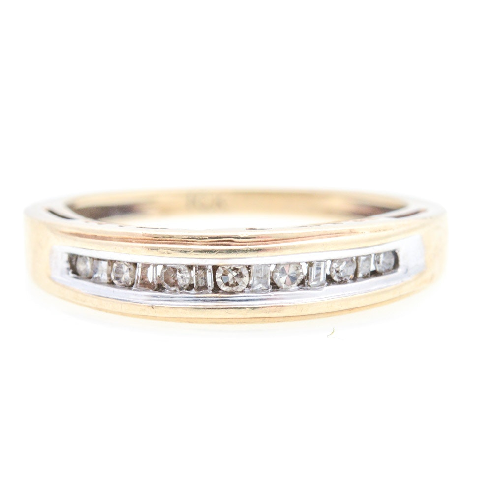 "10K Yellow Gold Diamond ""MOM"" Ring"