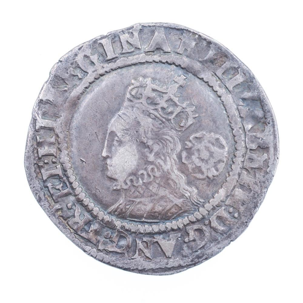 Great Britain 1571 Elizabeth I Silver Six Pence