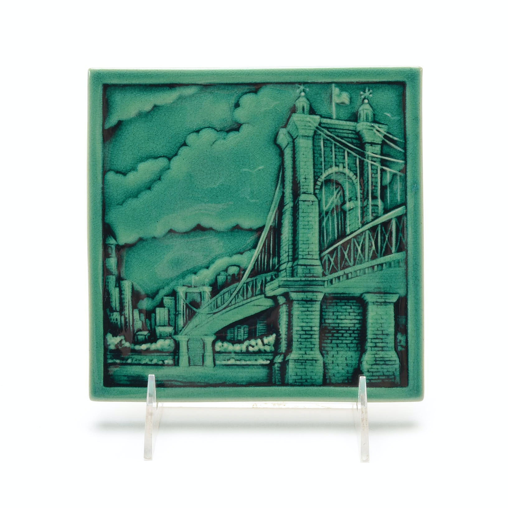 Rookwood Art Pottery Cincinnati Roebling Bridge Tile