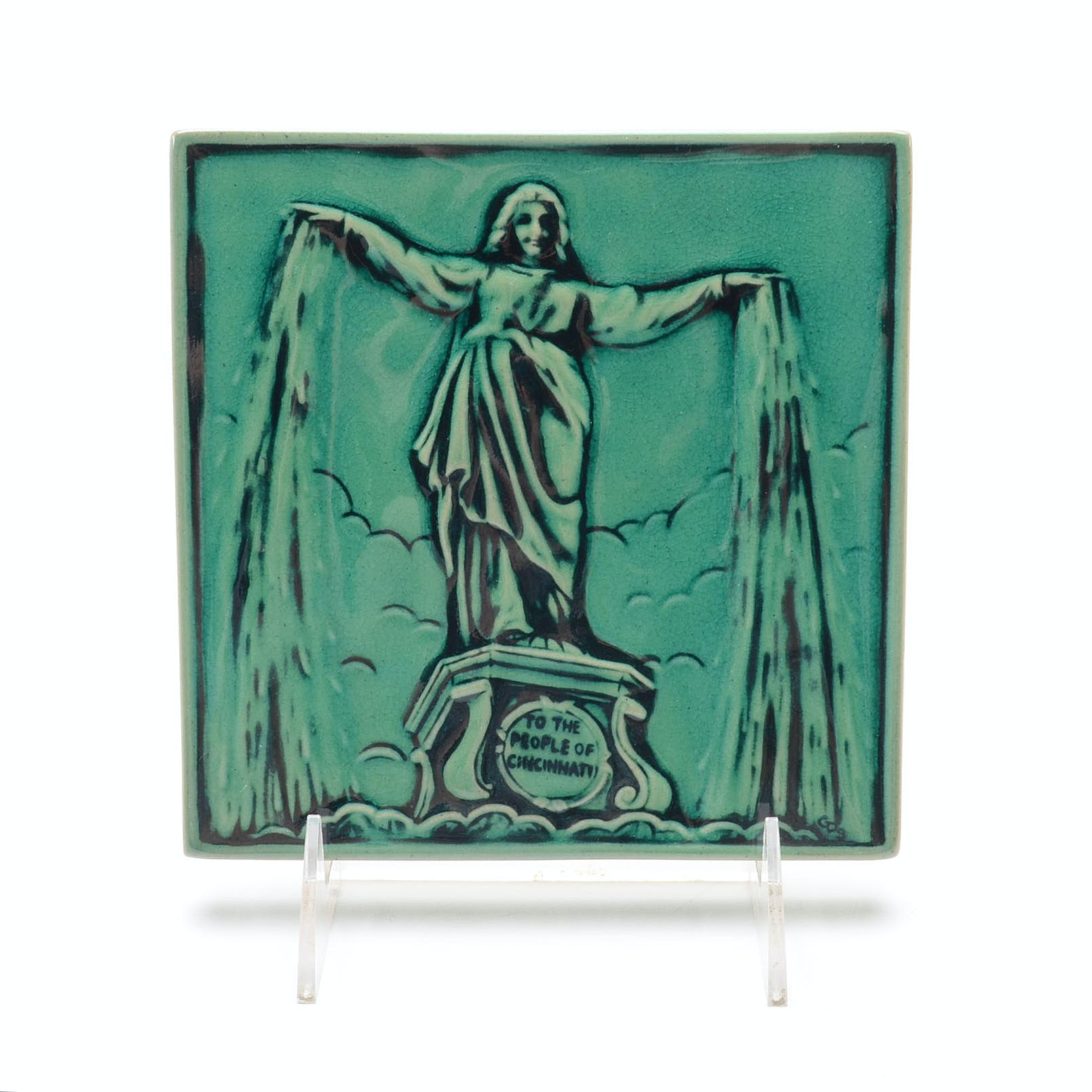 Rookwood Art Pottery Fountain Square Tile
