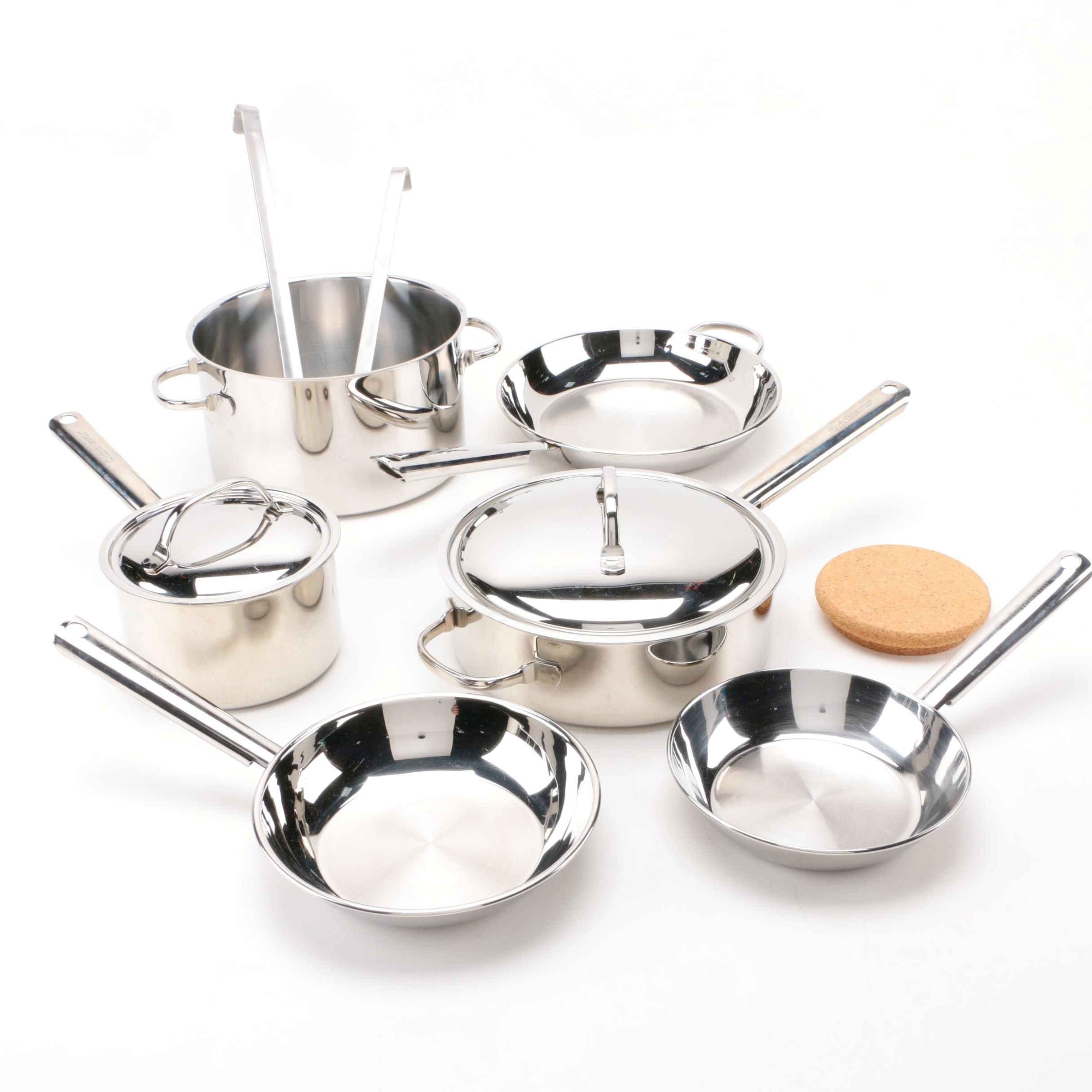 Cuisinart Stainless Steel Cookware With Ladles and Cork Holder