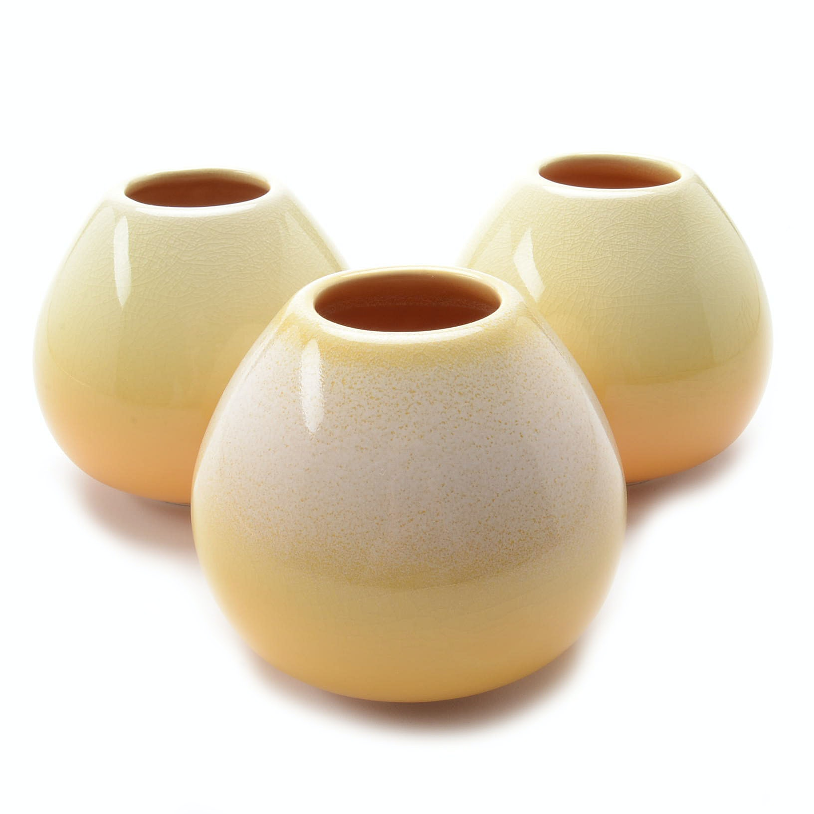 """Set of Contemporary Rookwood Art Pottery Yellow """"Sophie"""" Vases"""