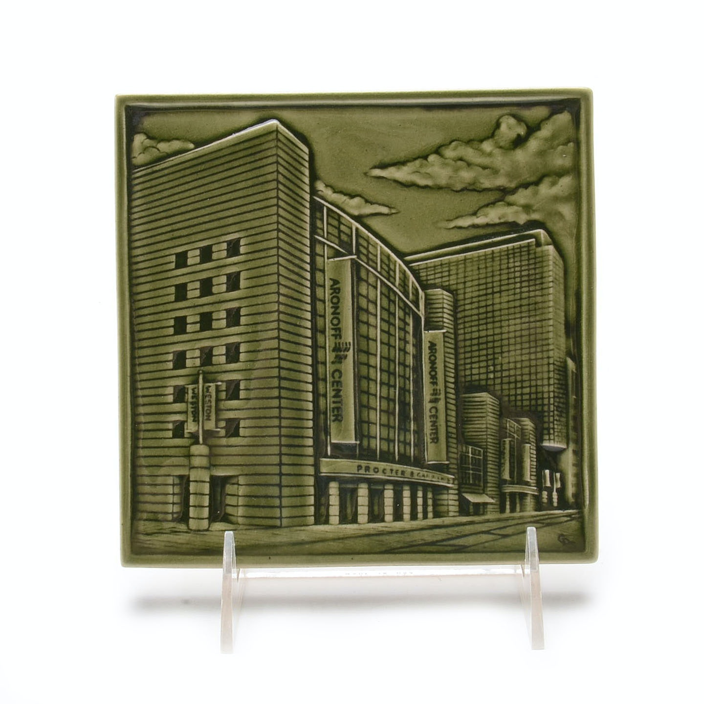 "Rookwood Pottery 1st Edition Commemorative ""Aronoff""  Tile"