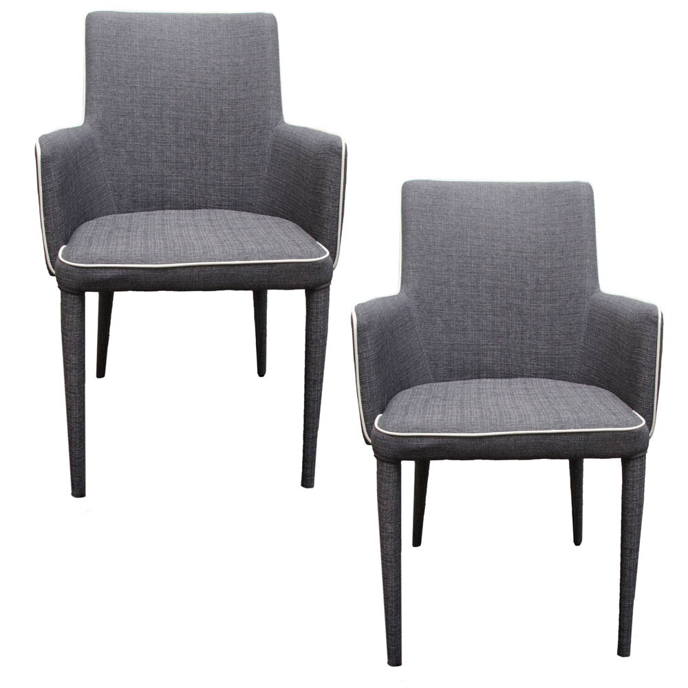 Pair of Modern Upholstered Armchairs by Safavieh