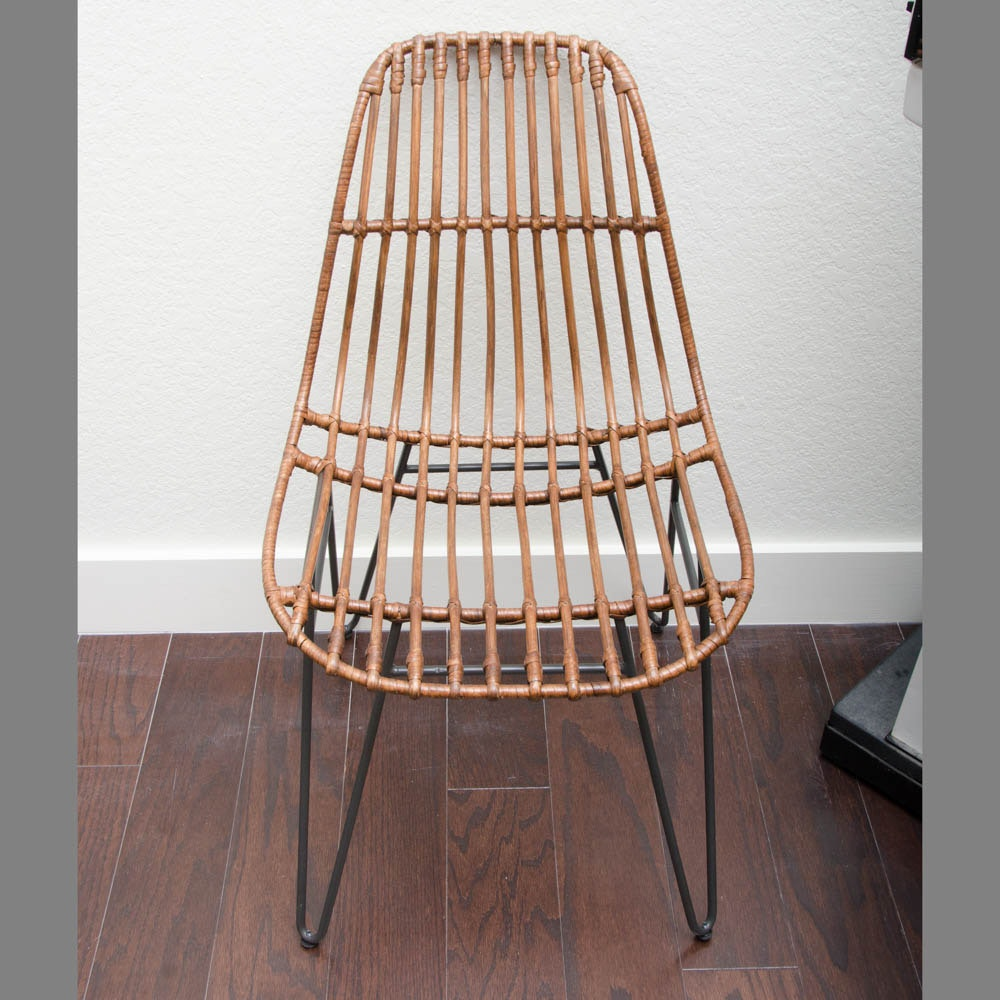 Vintage Modern Rattan Accent Chair