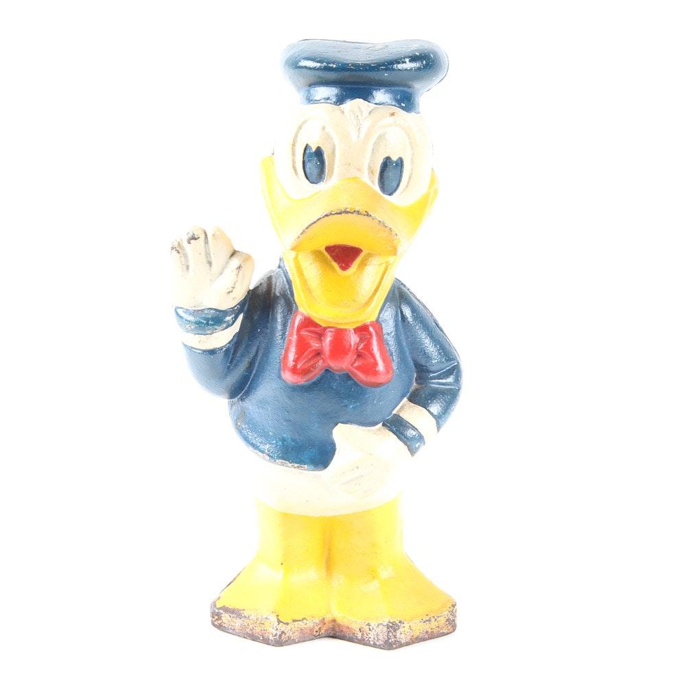 Donald Duck Cast Iron Doorstop Bank