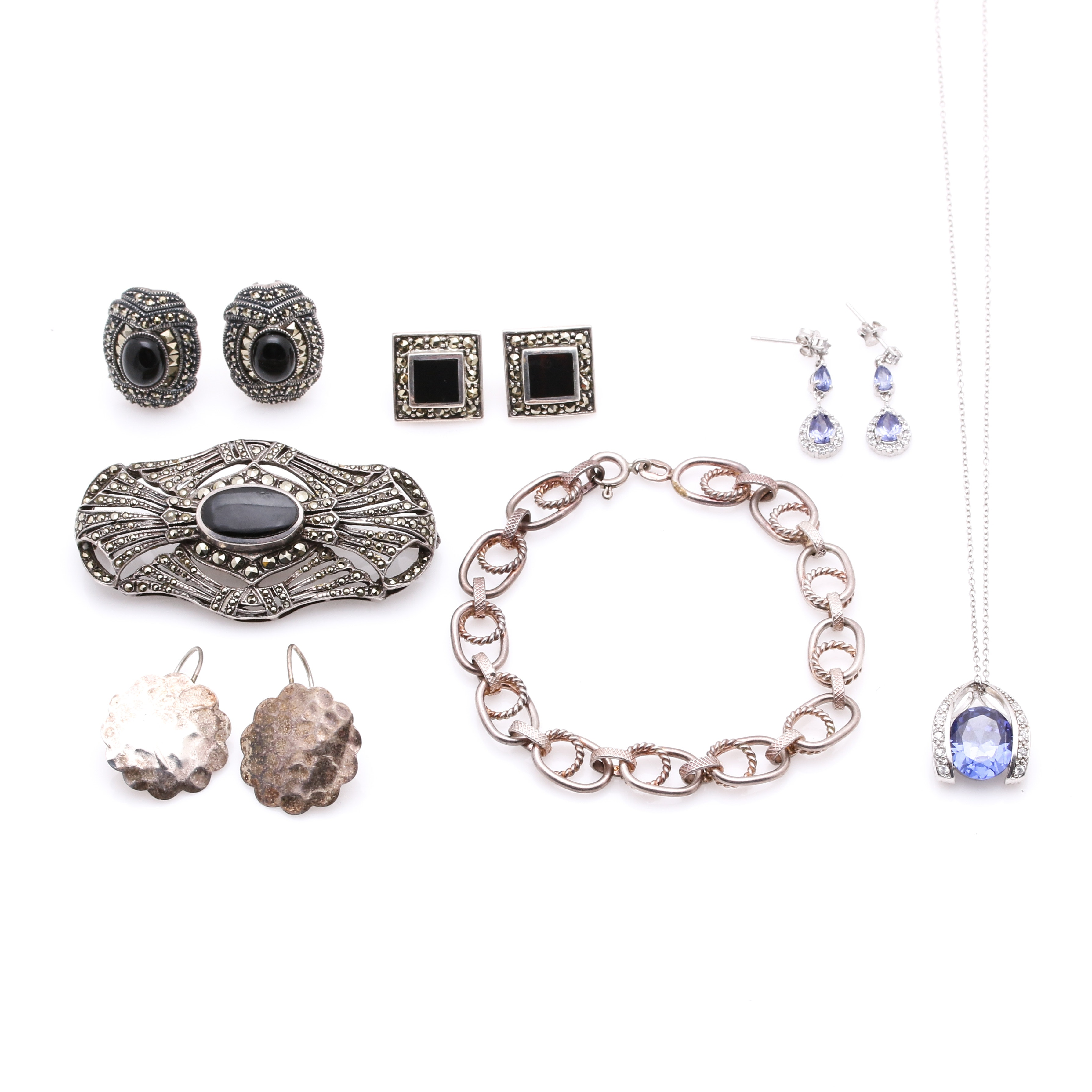 Assortment of Sterling Silver Gemstone Jewelry Featuring Judith Jack