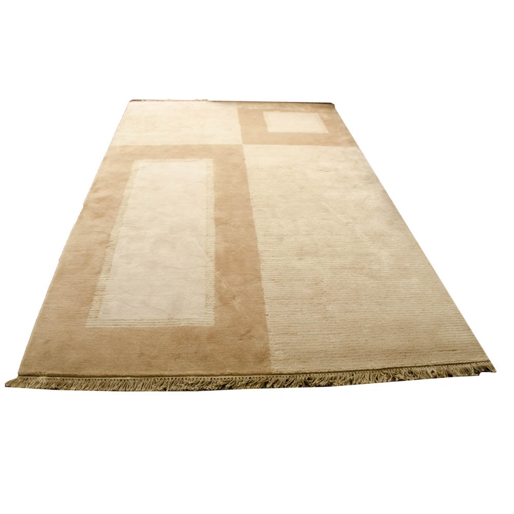 """Hand-Knotted Nepalese """"Aurora"""" Area Rug"""