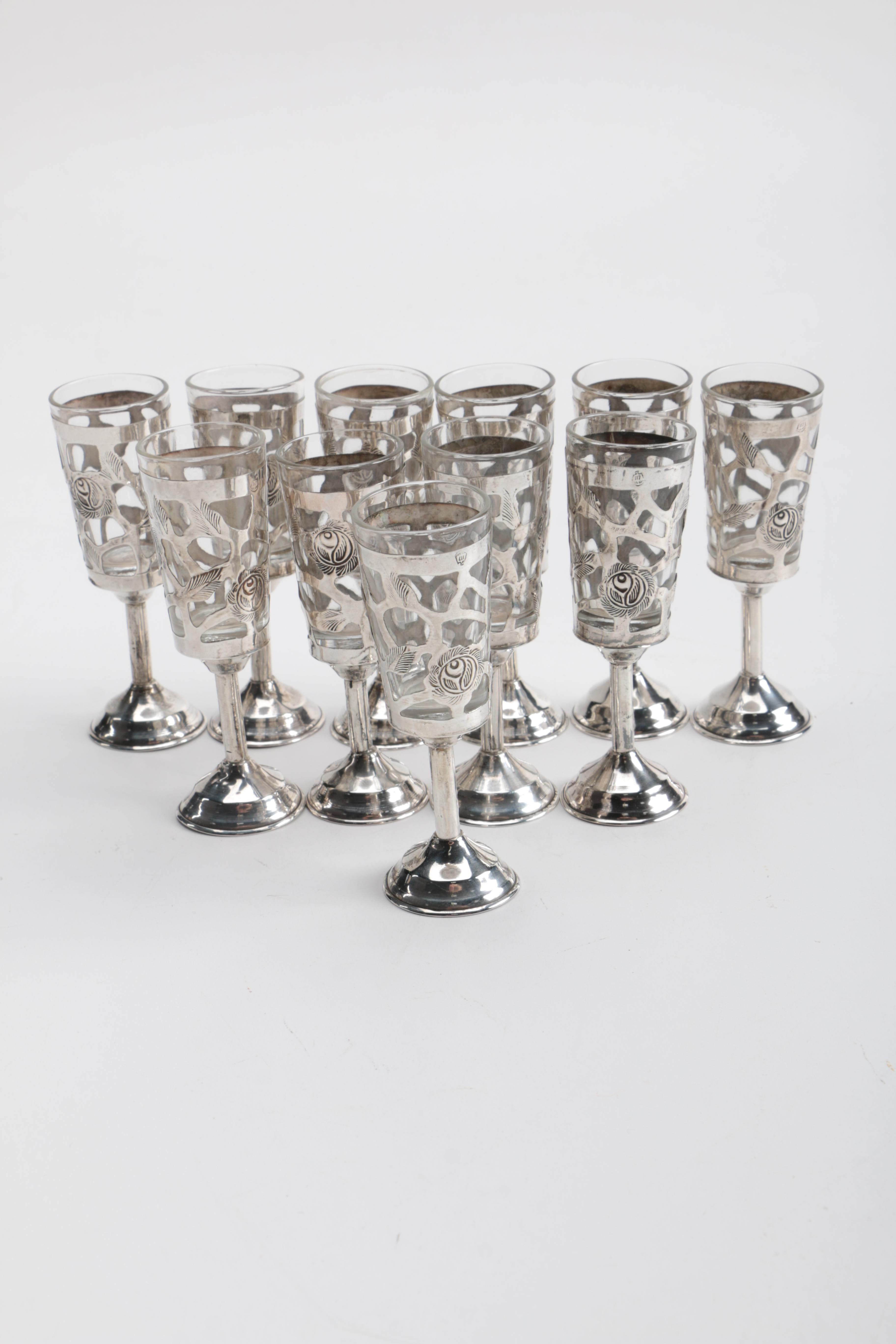 Mexican Sterling Silver Cordial Cups