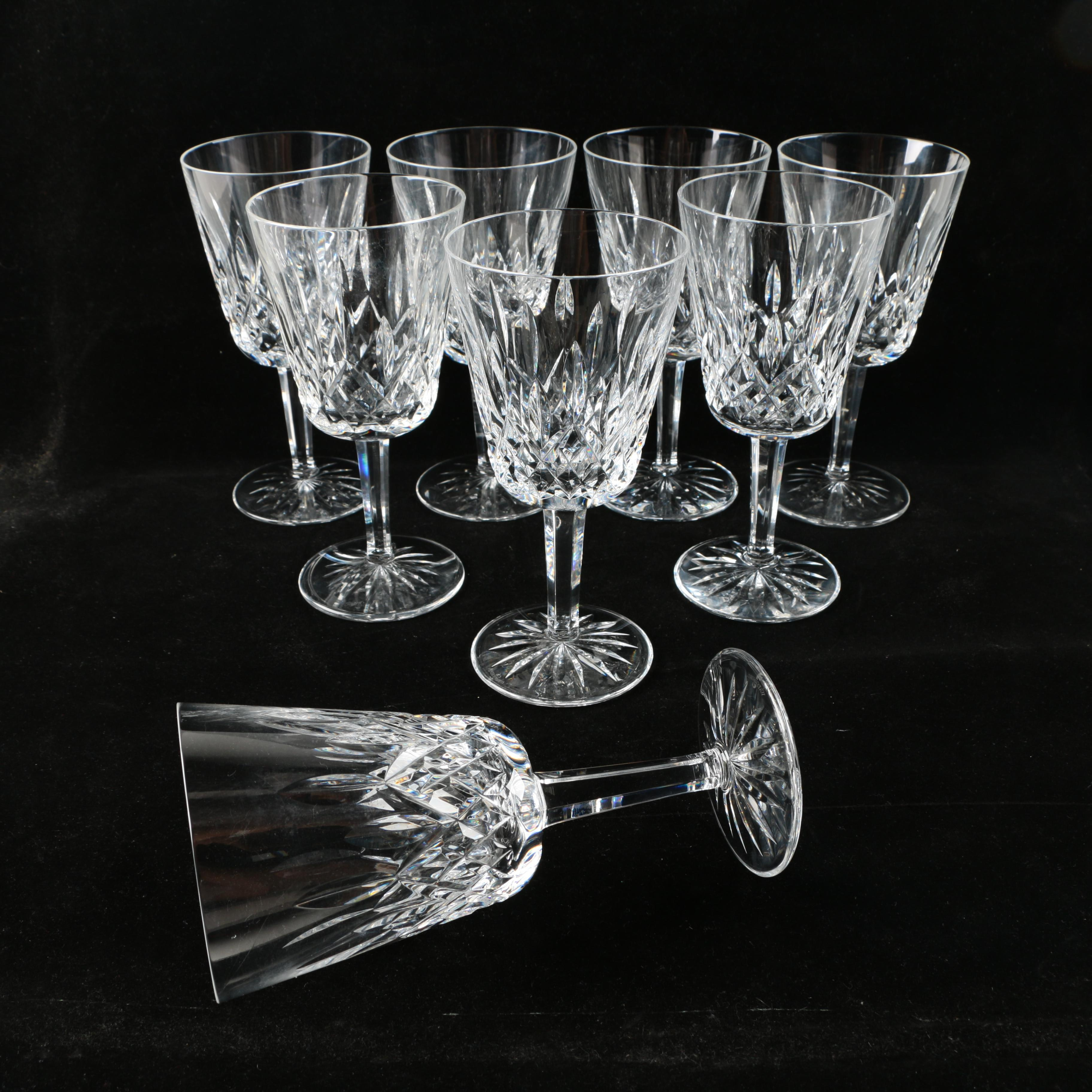 """Waterford Crystal """"Lismore"""" Goblets"""
