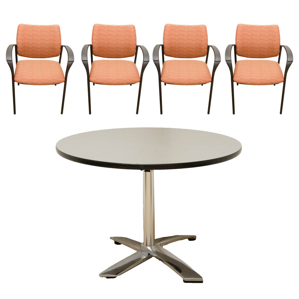Contemporary Modern Office Table and Chairs