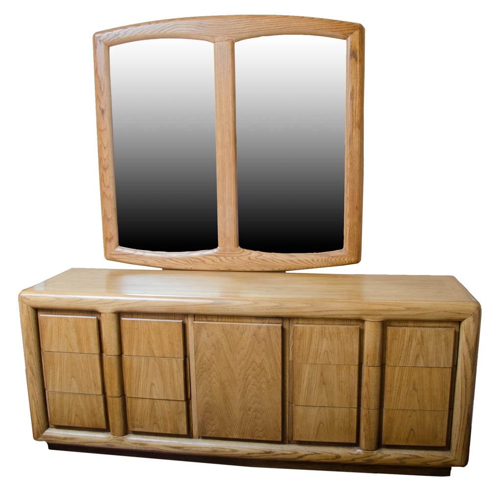 Mid Century Modern Dresser with Mirror by Thomasville