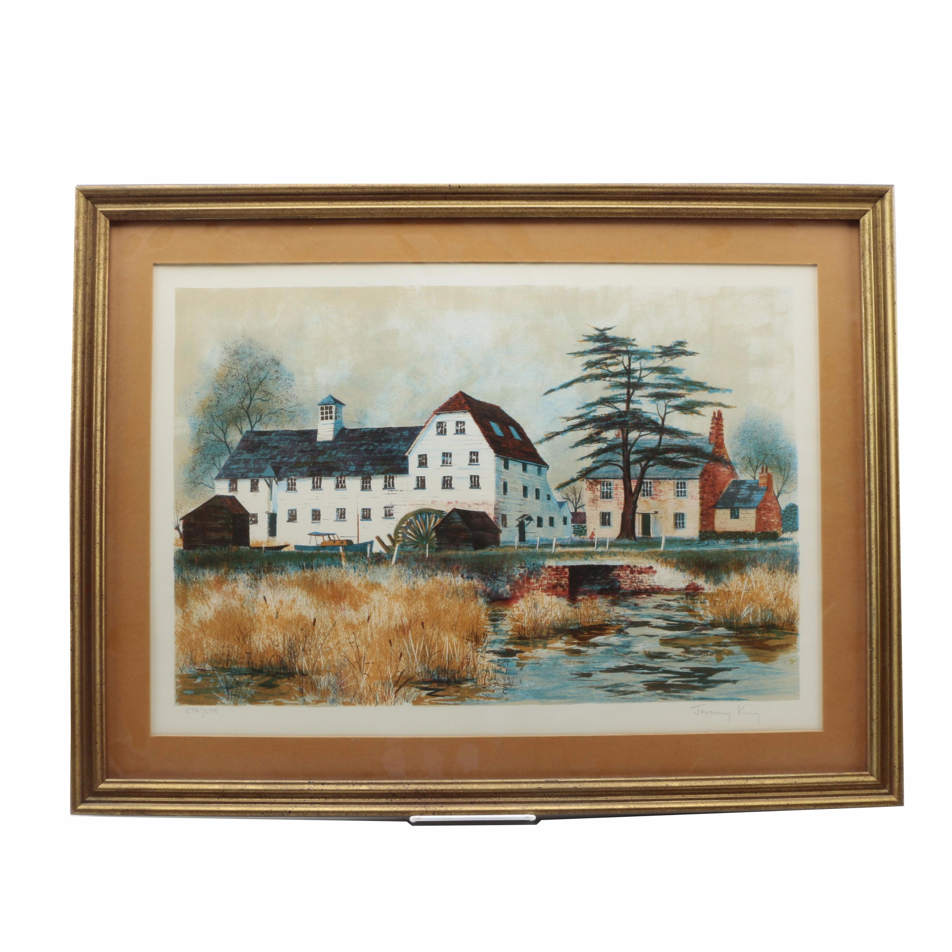 Jeremy King Limited Edition Lithograph of English Countryside