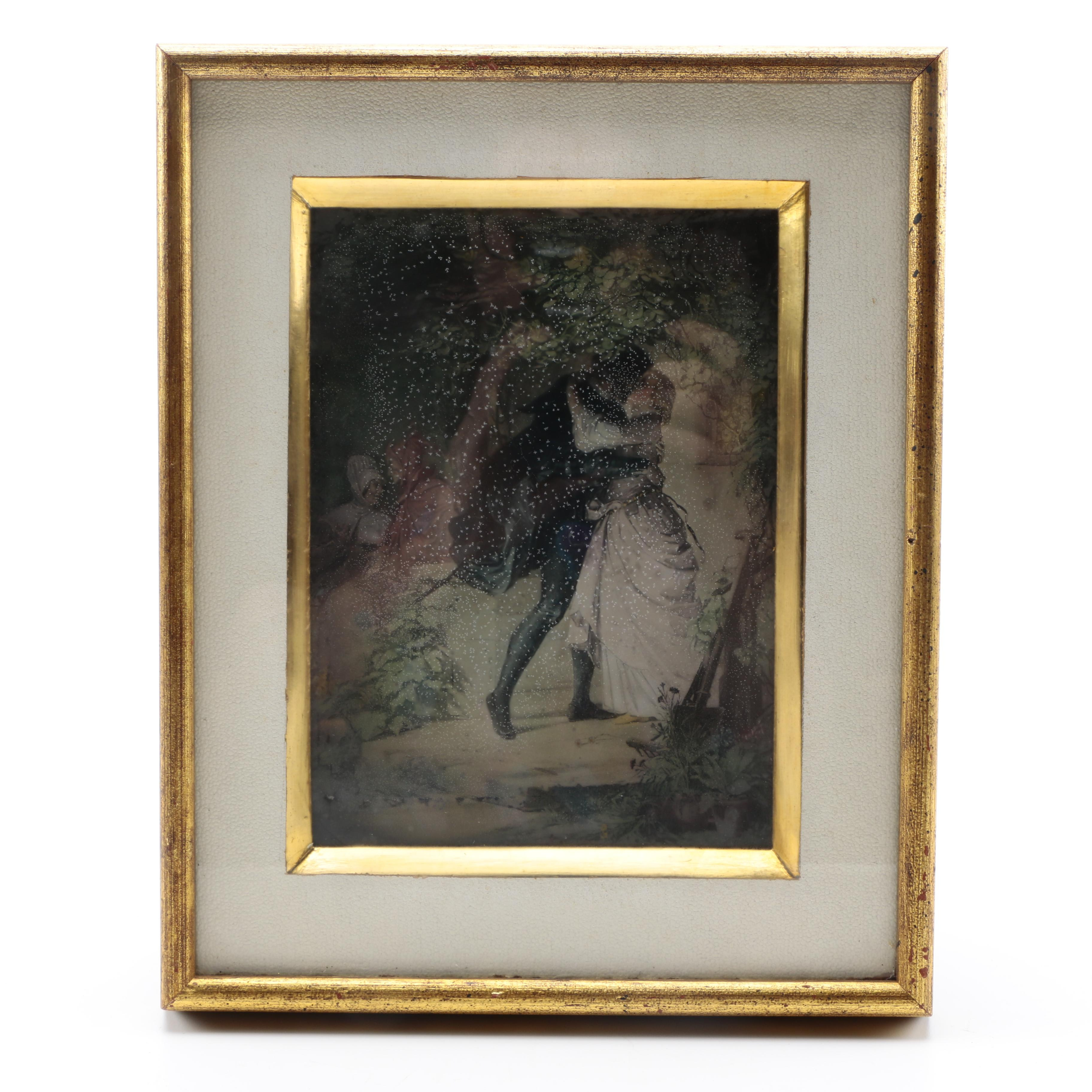 Lithograph on Paper After 19th Century Courtship Scene