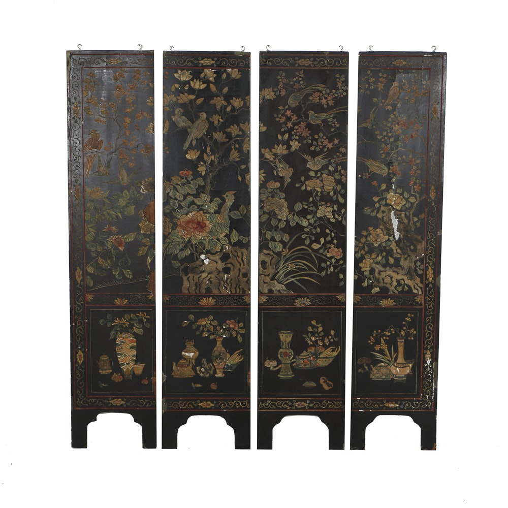Early 20th Century Chinese Coromandel Screen