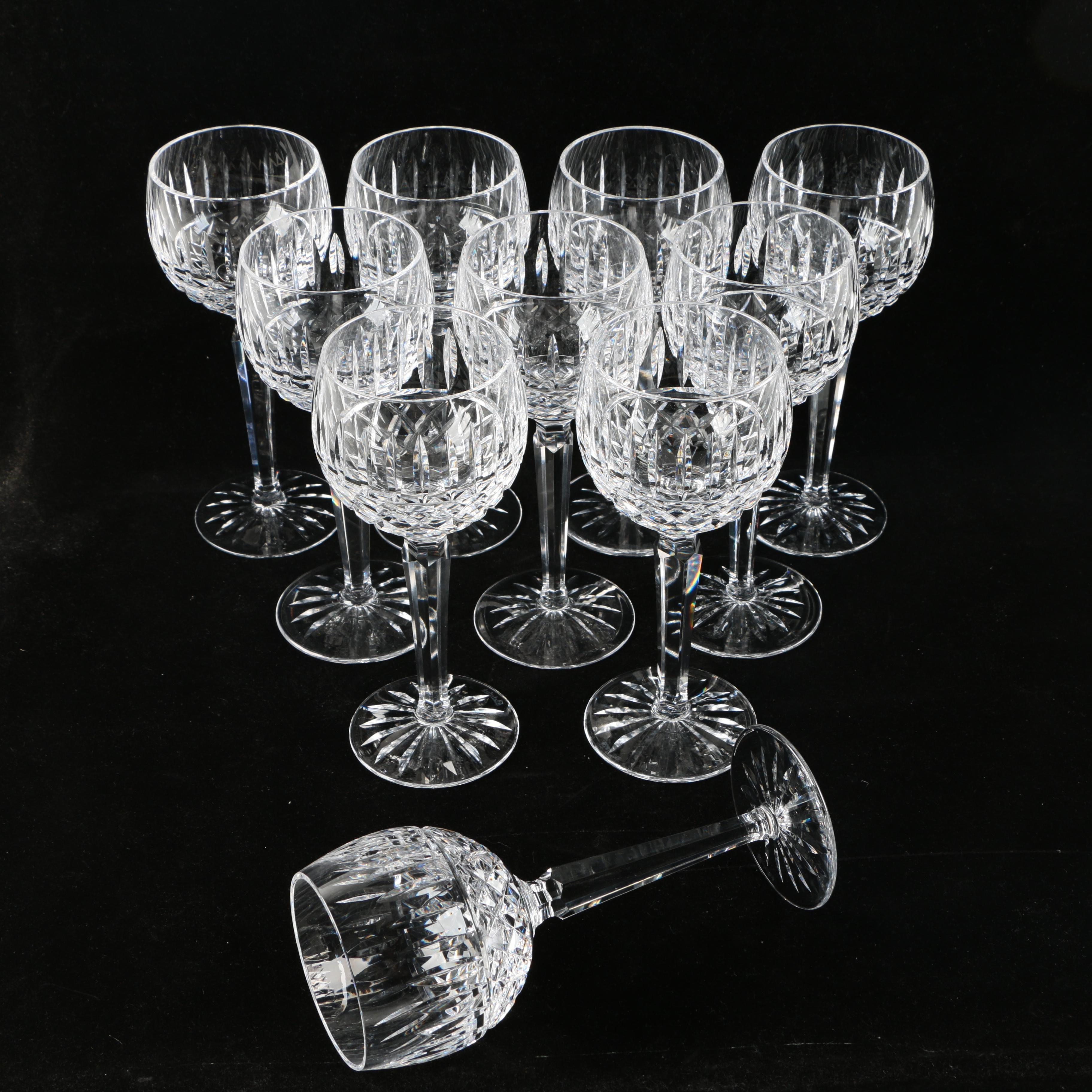 "Waterford Crystal ""Maeve"" Hock Wine Glasses"