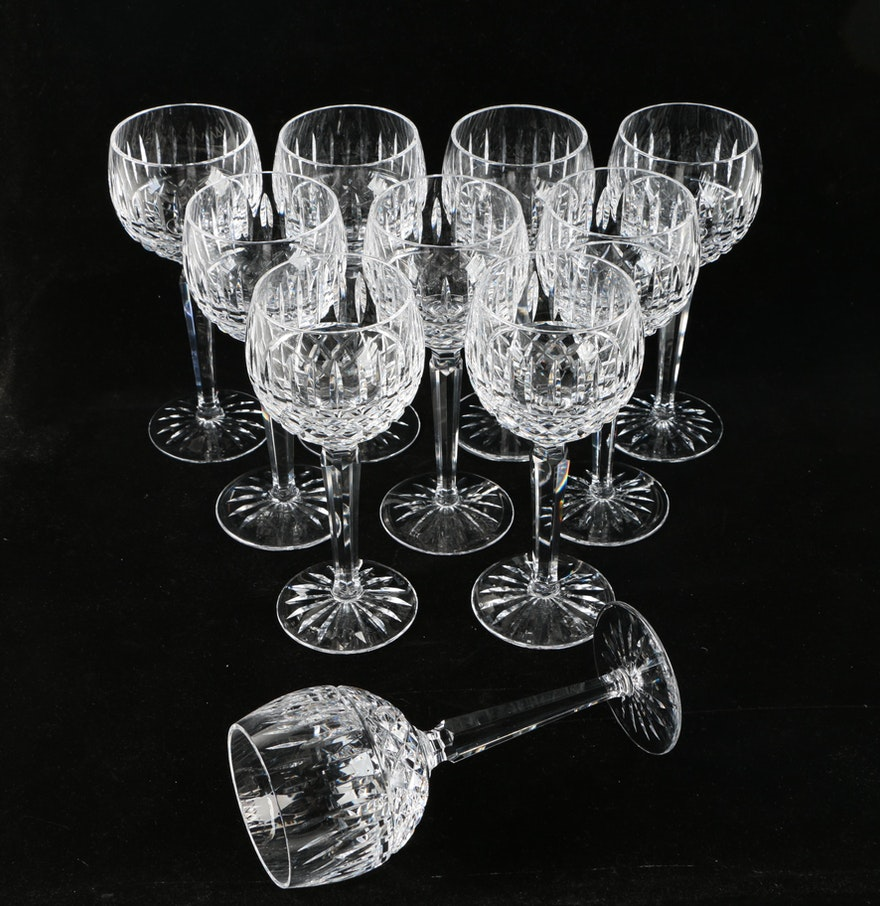 Waterford crystal maeve hock wine glasses ebth - Wedgwood crystal wine glasses ...