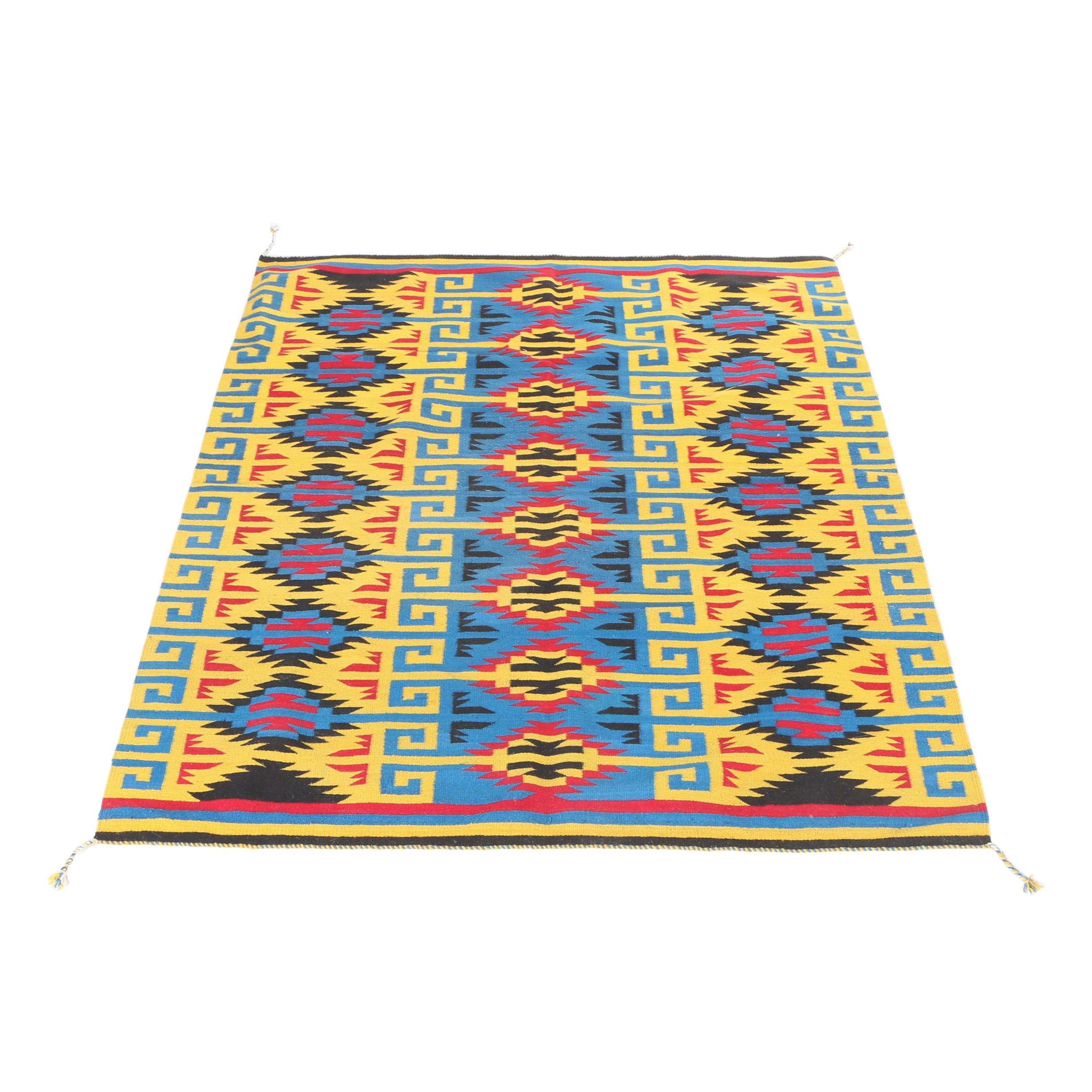 Native American Style Handwoven Wool Rug