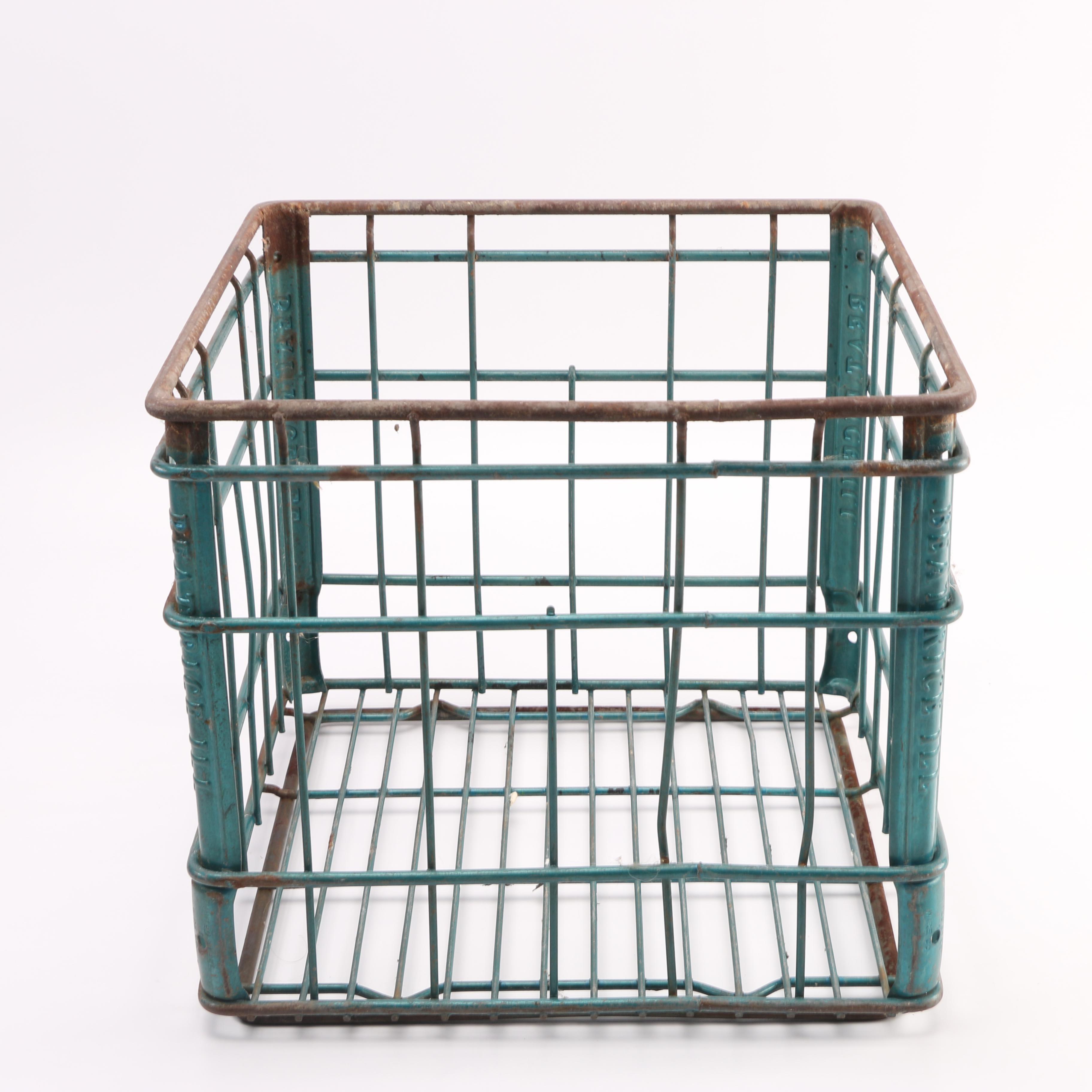 Green Metal Crate