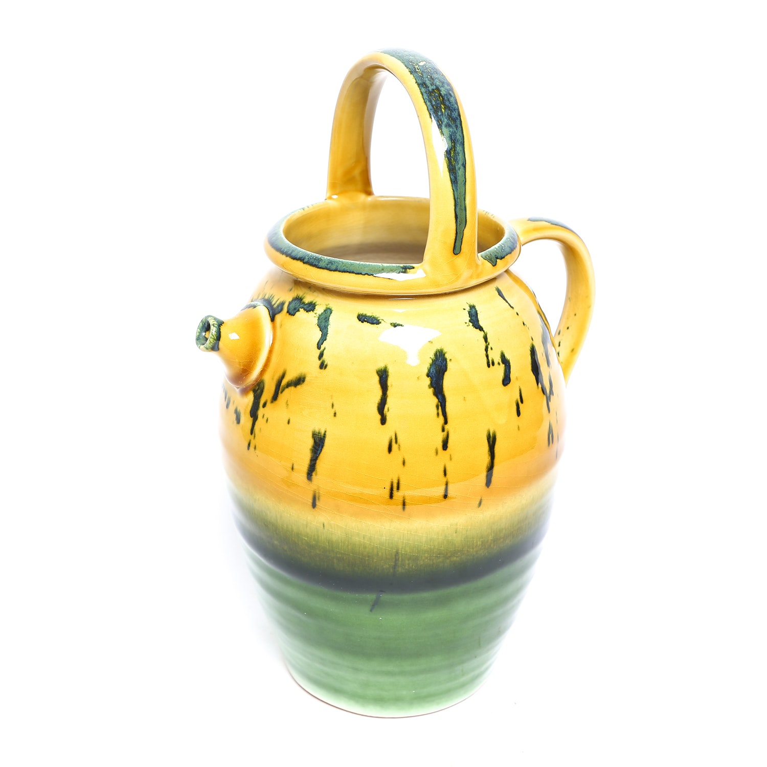 Italian Hand Painted Pottery Pitcher