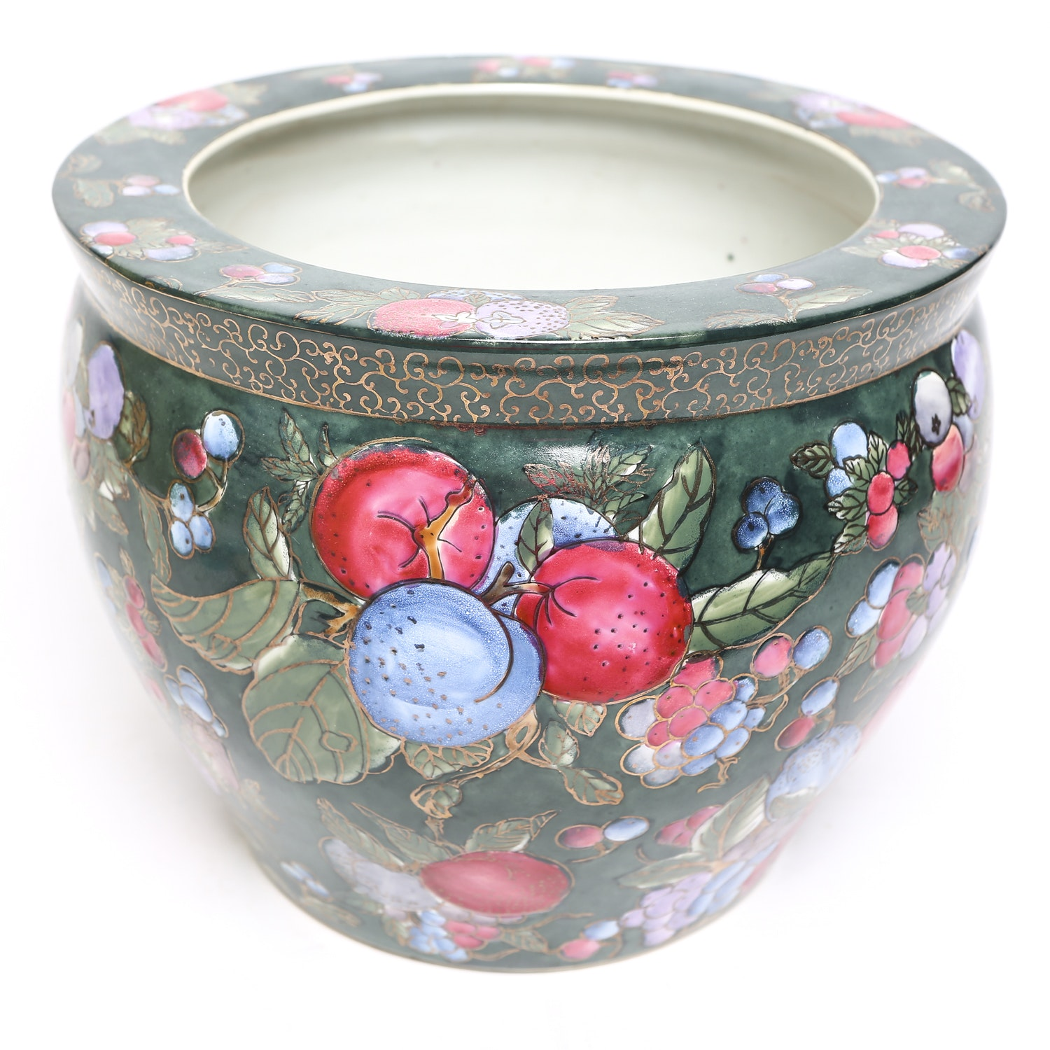 Chinese Planter with Floral Design