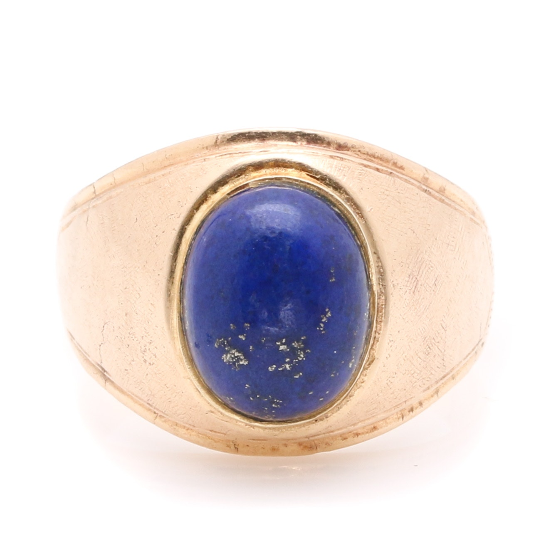 10K Yellow Gold Lapis Lazuli Ring