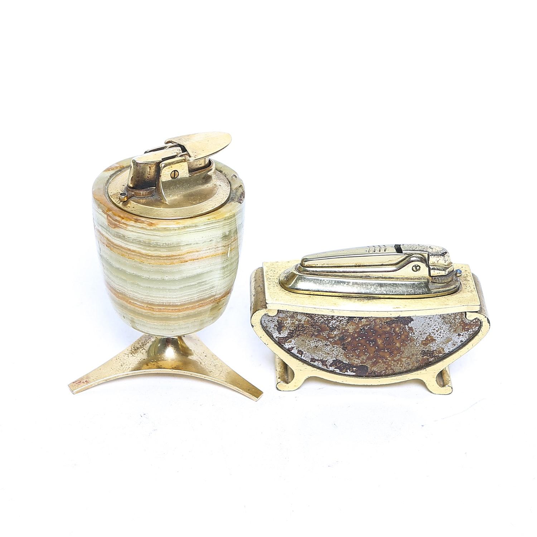 Two Vintage Desk Lighters