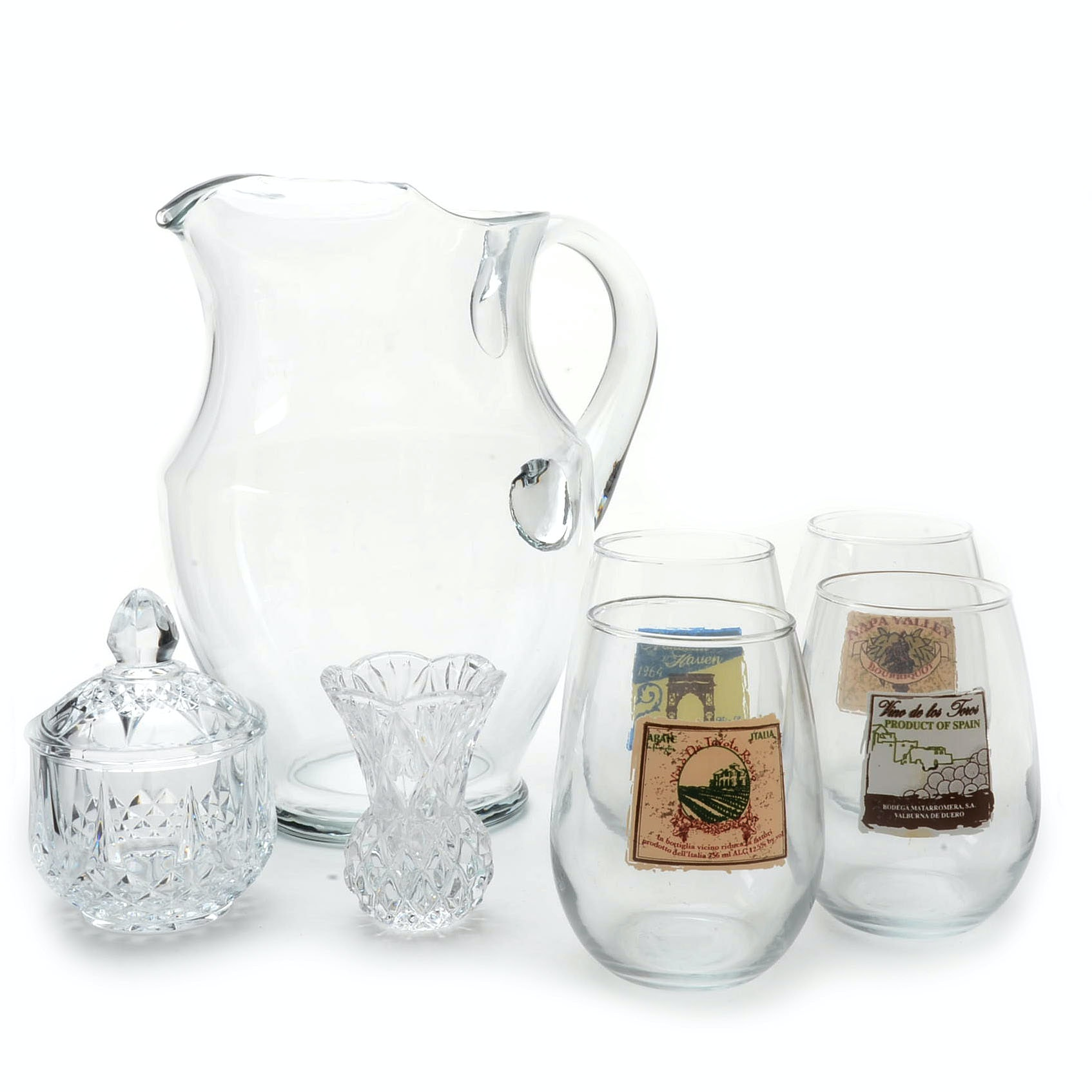Assortment of Crystal and Glass Tableware