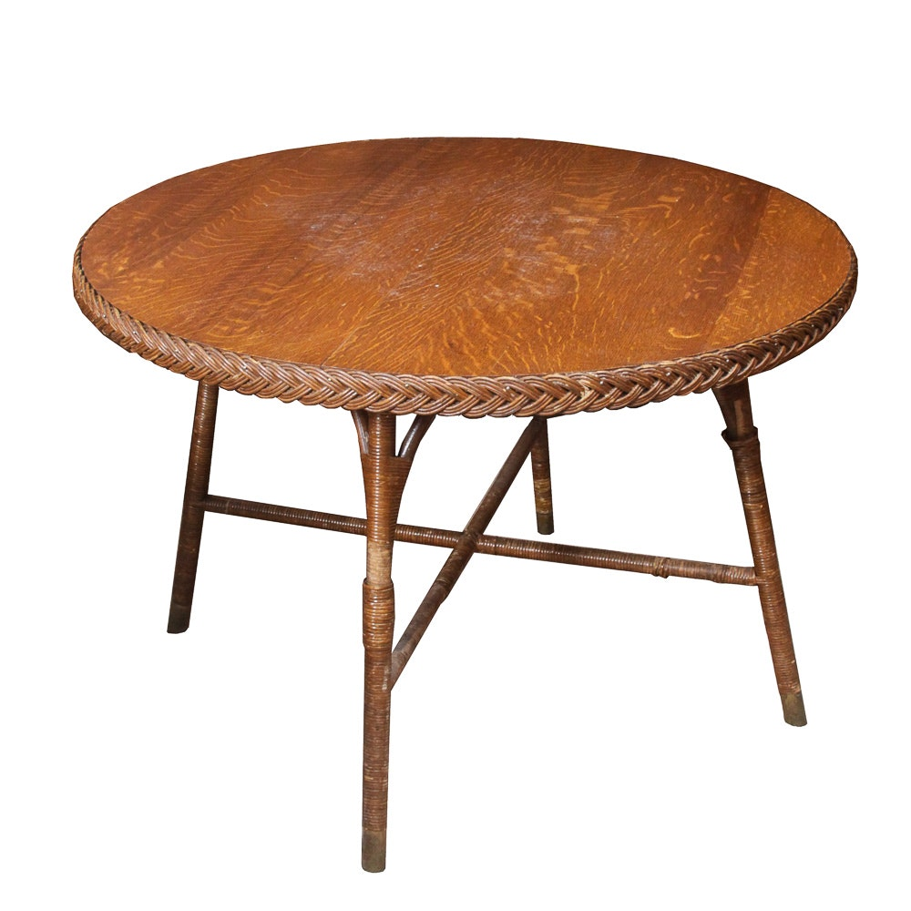 Vintage Heywood Wakefield Wicker Table