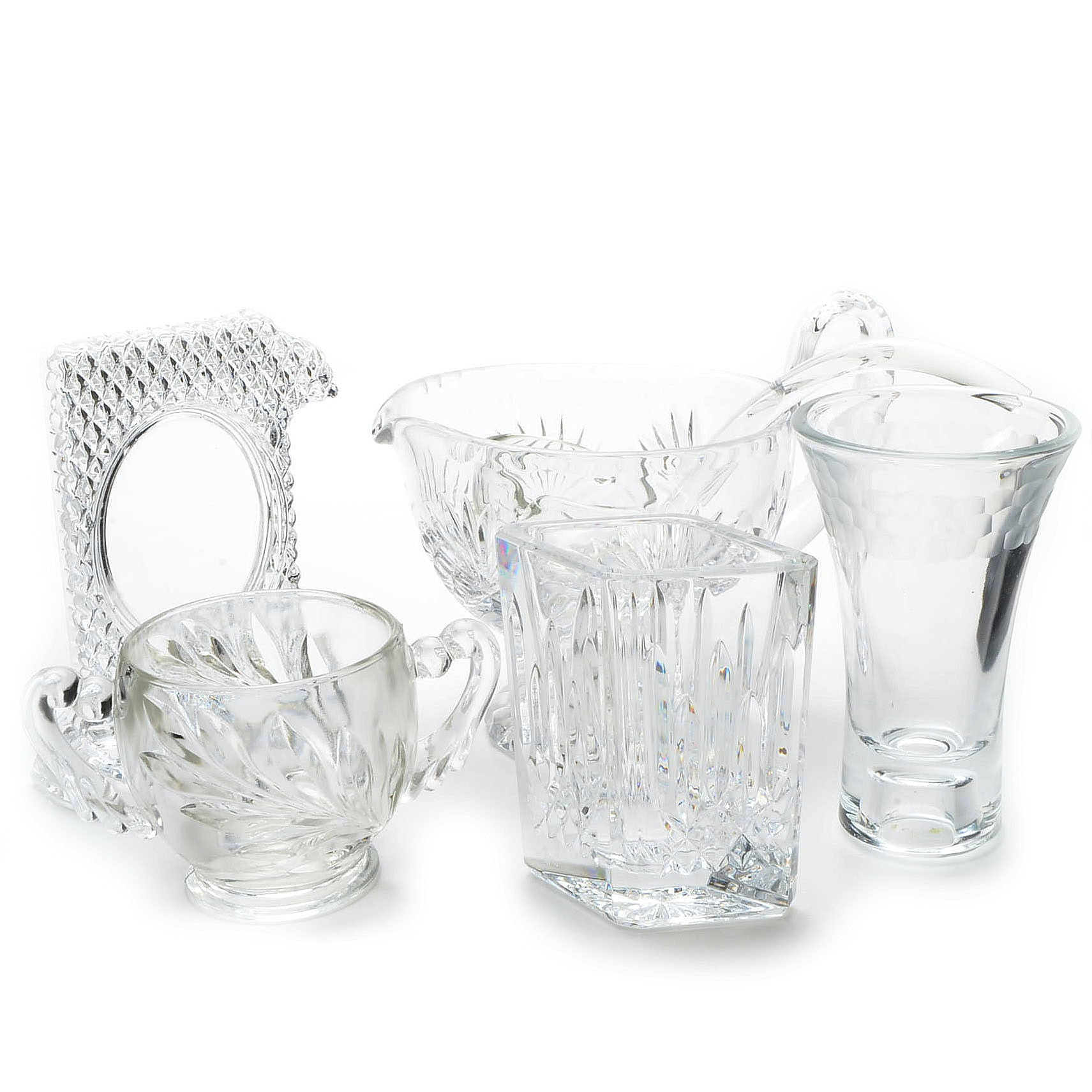 Assorted Crystal and Glass Tableware Including Waterford Crystal