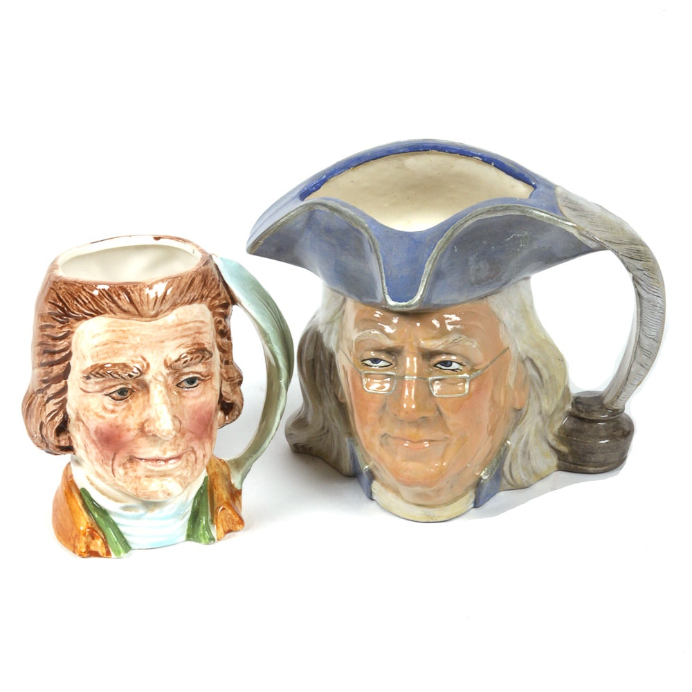 Ceramic American Founding Fathers Character Mugs