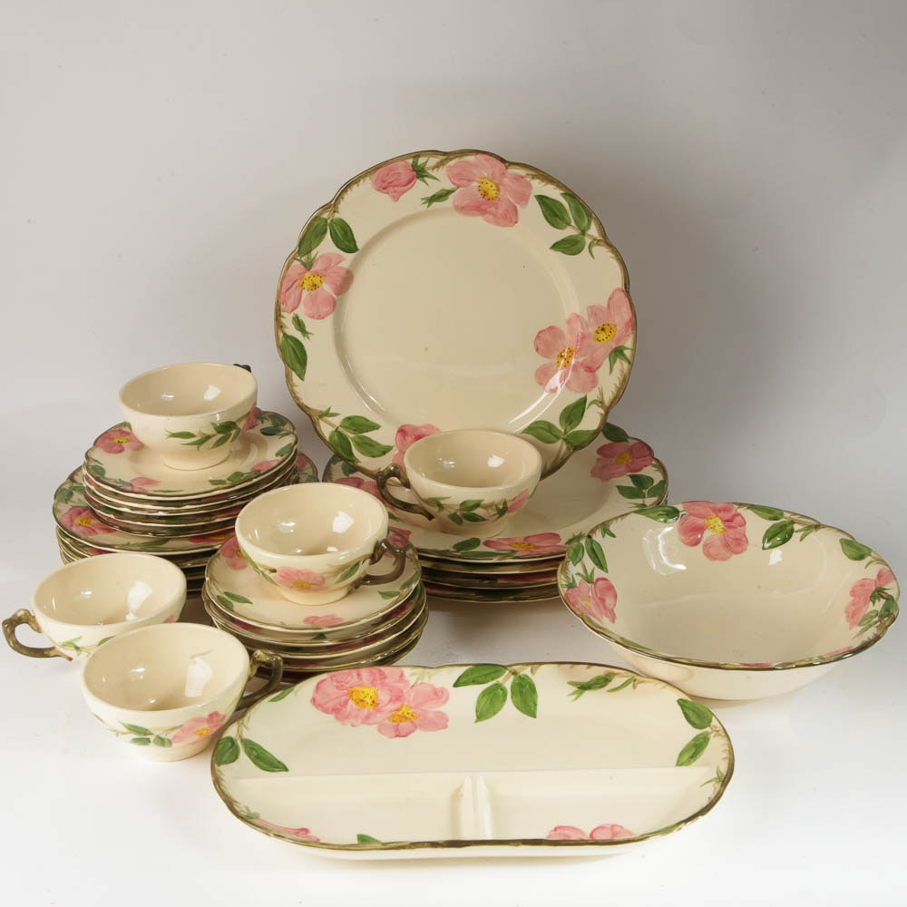Set of Franciscan  Desert Rose  Dinnerware ... & Set of Franciscan