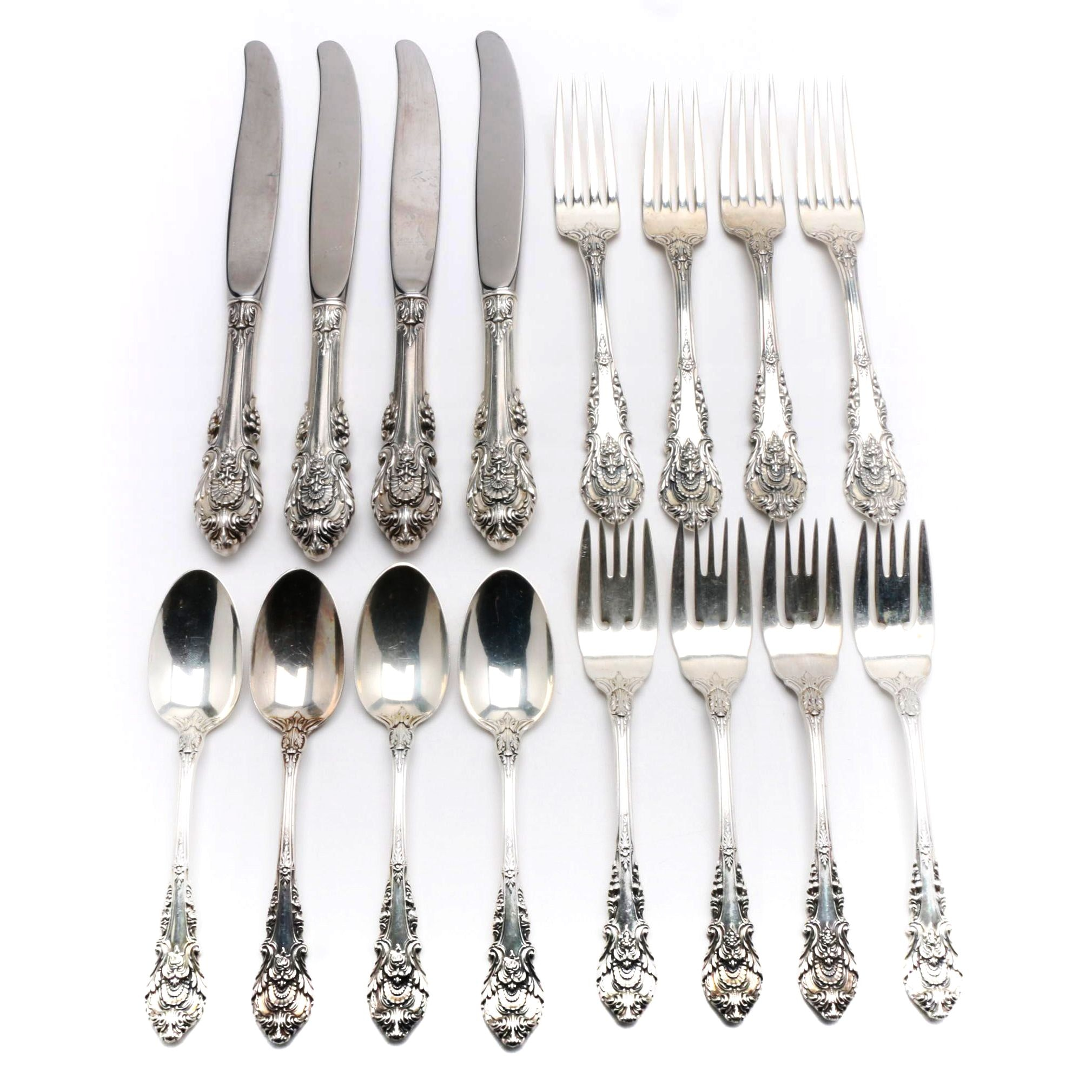 "Wallace ""Sir Christopher"" Sterling Silver Flatware Settings"