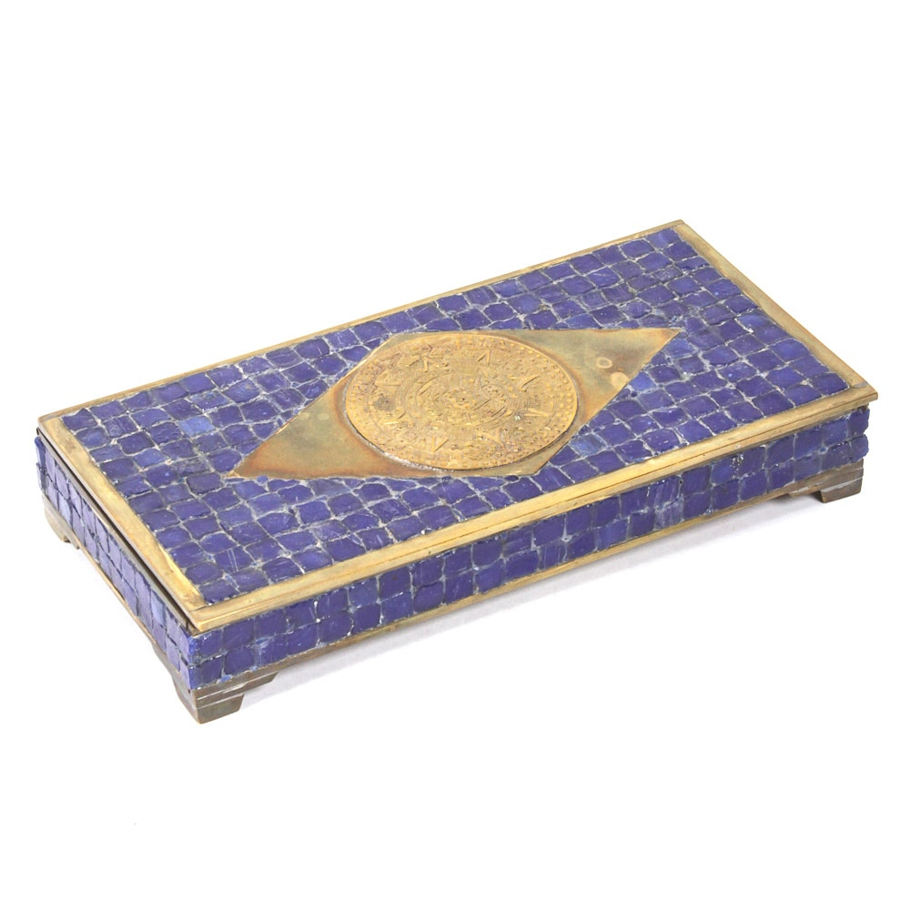 Metal and Mosaic Jewelry Box
