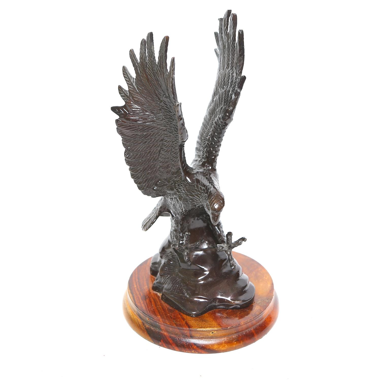 Metal Bald Eagle Figurine