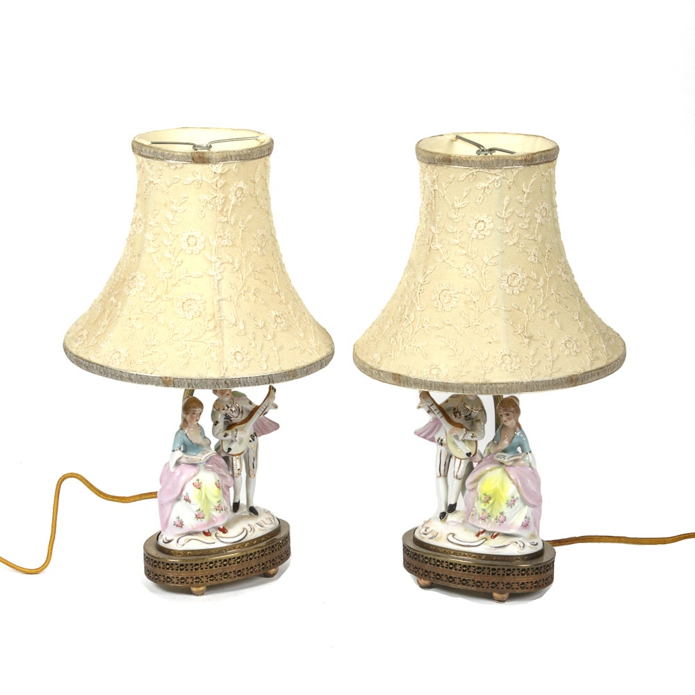 Figural Porcelain Table Lamps