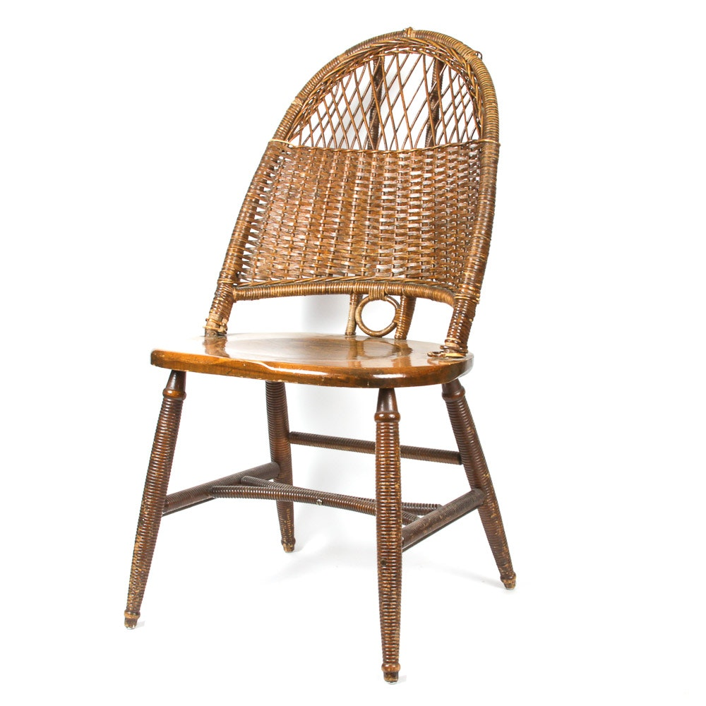 Vintage Haywood Wakefield Woven Back Chair