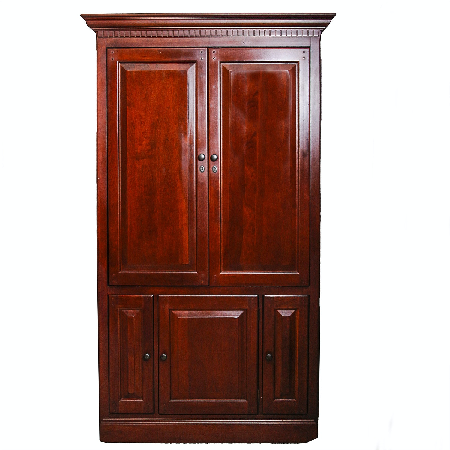 Entertainment Armoire Converted to Bar Cabinet