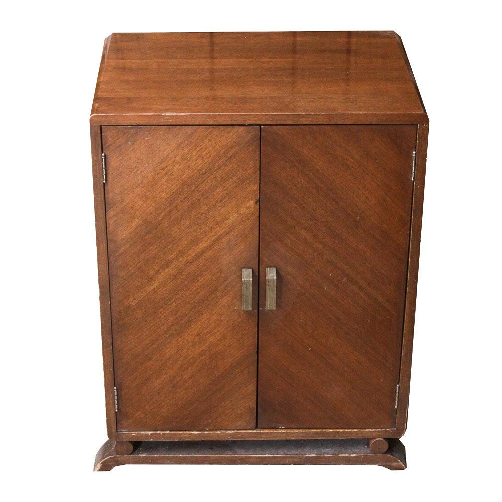 Attirant Bauhaus Style Veneered Wooden Vintage Liquor Cabinet ...