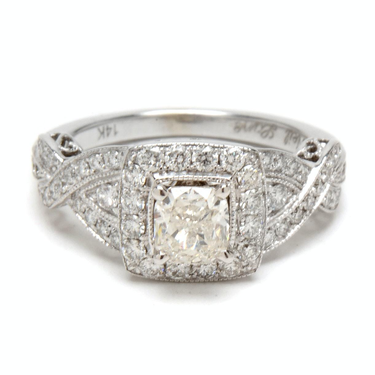 Neil Lane 14K White Gold 1.34 CTW Diamond Engagement Ring